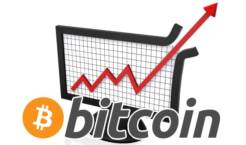 Цена Bitcoin преодолевает барьер 5 000 долларов США